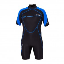 BARE - 2mm SPORT S FLEX WETSUIT SHORTY MENS , BLUE