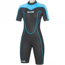 BARE - 2mm VELOCITY WETSUIT SHORTY  WOMENS , BLUE